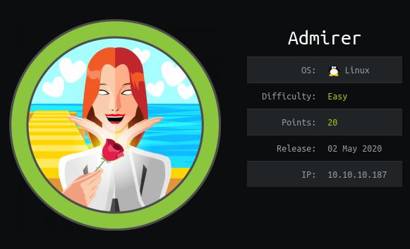 Admirer : Hackthebox Walkthrough