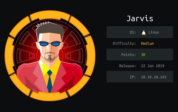 Jarvis: Hackthebox walkthrough