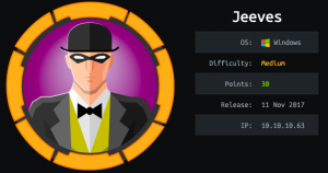 Jeeves : Hackthebox walkthrough