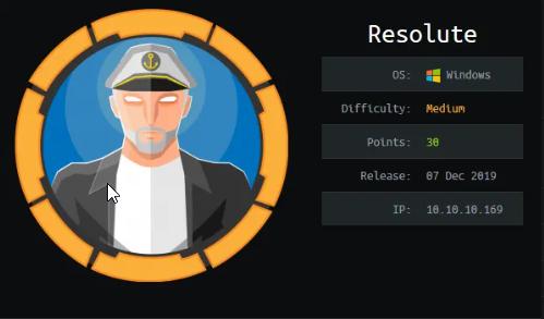 Hackthebox: Resolute Walkthrough