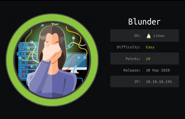 Blunder: Hackthebox Walkthrough
