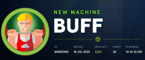 Buff hackthebox walkthrough