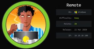 Remote Hackthebox walkthrough